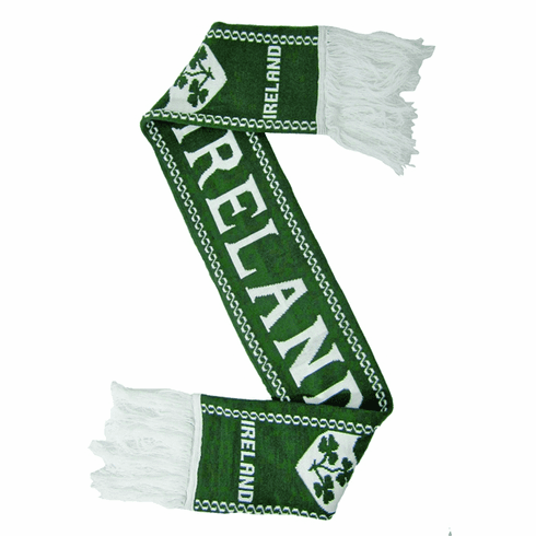 Ireland Green Soccer Scarf 4.5FT.  Double Layer