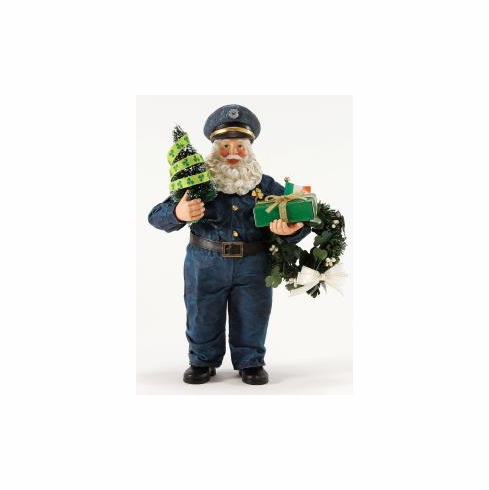 Irish Police Officer Friendly Santa.  Department 56