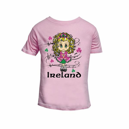 Pink Irish Dancer Kid T-Shirt