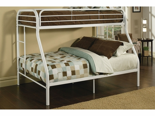 Acme Furniture Item 02052: Tritan Twin XL /Queen Metal Bunk Bed
