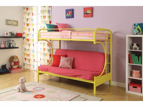 Acme Furniture Item 02091: Eclipse Twin/ Full Futon Bunk Bed