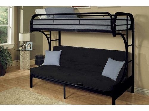 Acme Furniture Item 02091B: Eclipse Twin/ Full Futon Bunk Bed