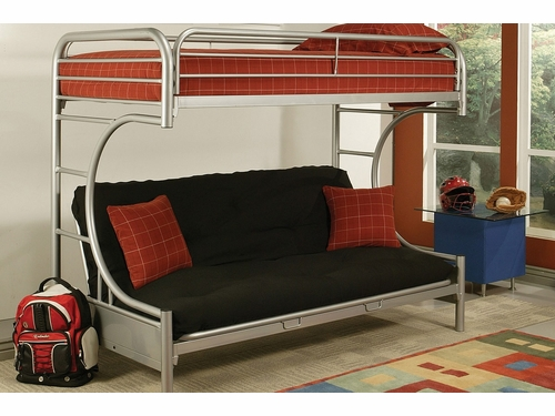 Acme Furniture Item 02093: Eclipse Twin XL/ Queen Futon Bunk Bed