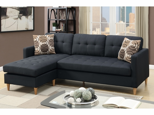 Poundex Associates Item F7084: Reversible Chaise Compact Sectional