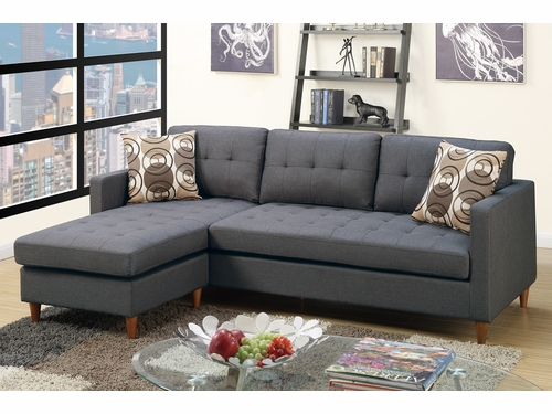 Poundex Associates Item F7094: Reversible  Chaise Compact Sectional