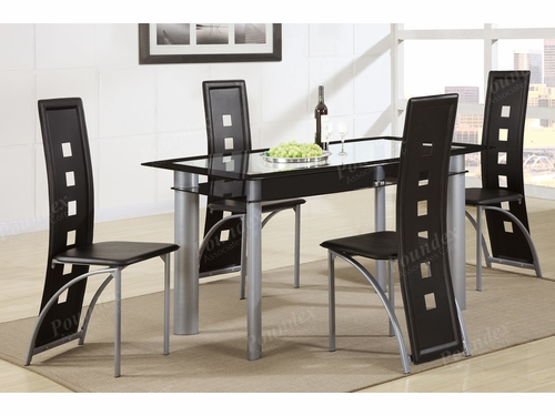 Poundex Furniture Item F2212: 5-Pc Casual Dining Set