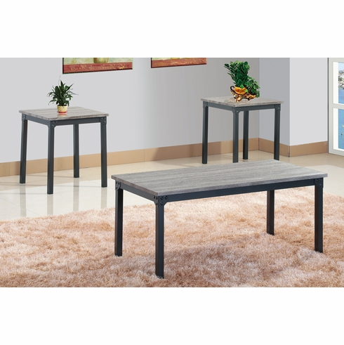 Poundex Coffee Table.Poundex Furniture Item F3143 3 Pcs Pack Coffee End Table Set