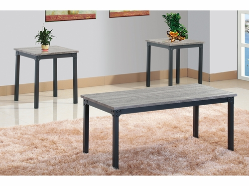 Poundex Furniture Item F3143: 3 PCs Pack Coffee/End Table Set