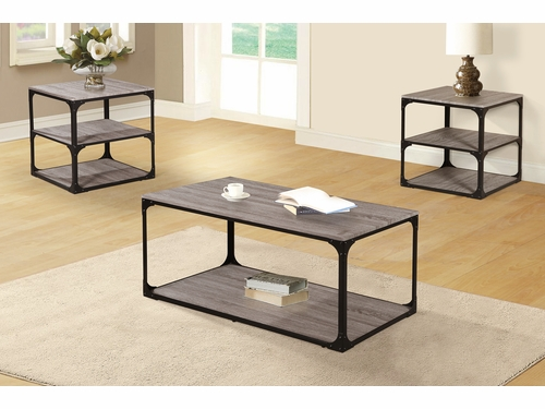 Poundex Furniture Item F3144: 3 PCs Pack Coffee/End Table Set