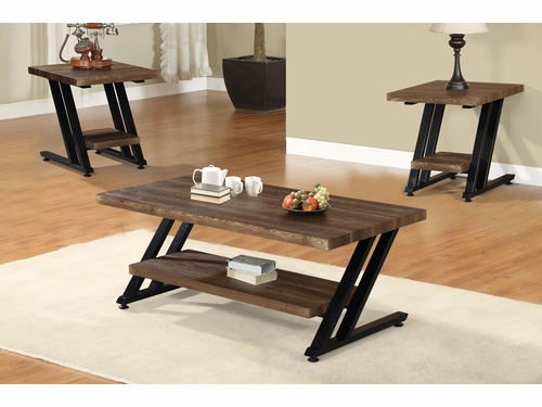 Poundex Furniture Item F3145: 3 PCs Pack Coffee/End Table Set