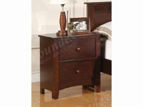 Poundex Furniture Item F4234: Dark Oak Finish Nightstand