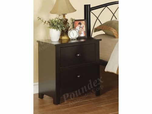 Poundex Furniture Item F4236: Black Finish Night Stand