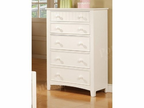 Poundex Furniture Item F4239: White Finish Chest