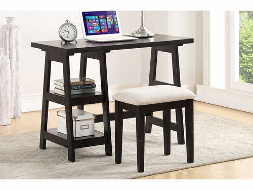 Poundex Furniture Item F4635: Writing Desk W/Stool