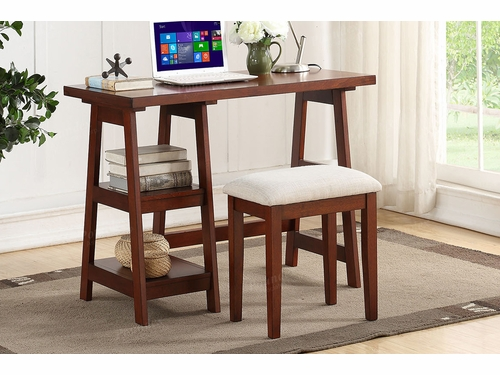 Poundex Furniture Item F4640: Writing Desk W/Stool