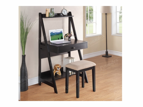 Poundex Furniture Item F4682: Writing Desk W/Stool