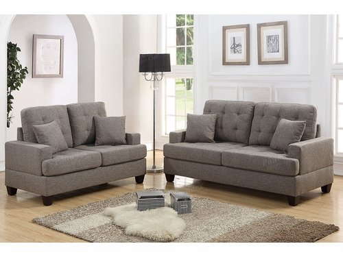 Poundex Furniture Item F6501: 2-PCs Sofa Set