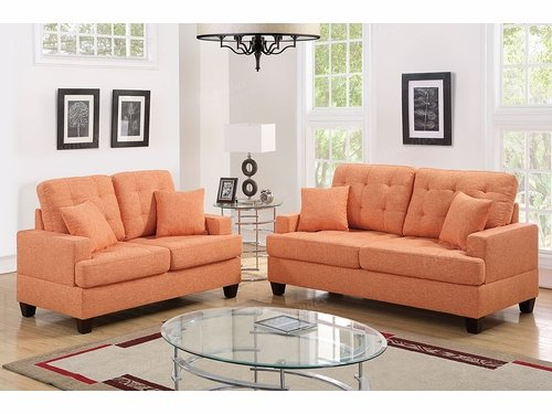 Poundex Furniture Item F6503: 2-PCs Sofa Set