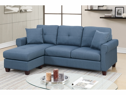 Poundex Furniture Item F6573: Reversible  Chaise Compact Sectional