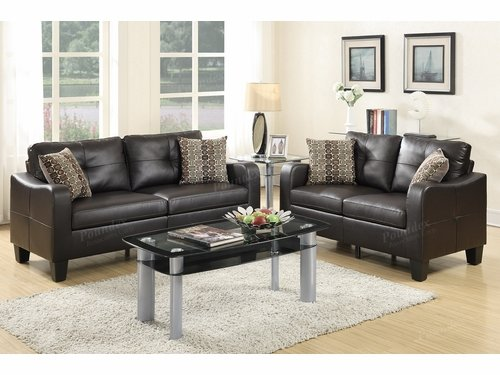 Poundex Furniture Item F6921: 2-PCs Sofa Set