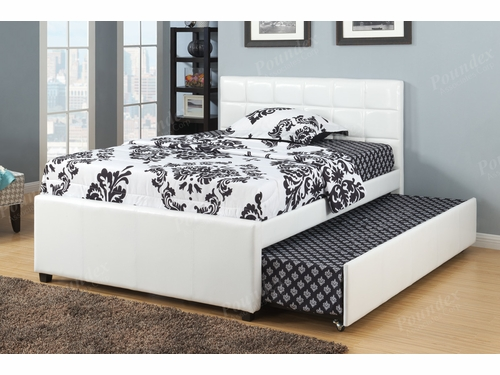 Poundex Furniture Item  F9216T: Twin Bed Frame W/Trundle