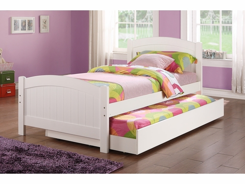 Poundex Furniture Item F9218: Twin Size Bed W/Trundle