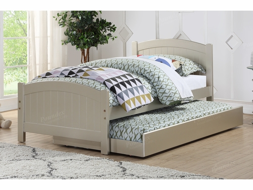 Poundex Furniture Item F9276: Twin Size Bed W/Trundle
