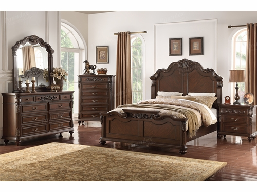 Poundex Furniture Item F9385EK: Eastern King Bed Frame