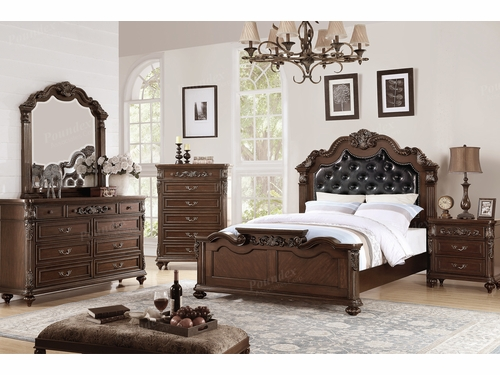 Poundex Furniture Item F9386EK: Eastern King Bed Frame
