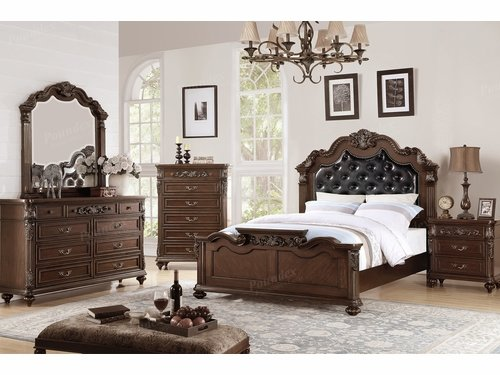 Poundex Furniture Item F9386Q: Queen Size Bed Frame
