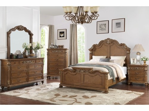 Poundex Furniture Item F9387Q: Queen Size Bed Frame