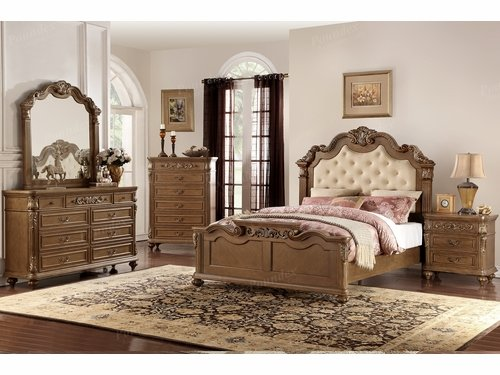 Poundex Furniture Item F9388Q: Queen Size Bed Frame
