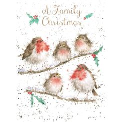 'A Family Christmas' Card - 6 In Stock