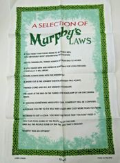A Selection of Murphy's Laws Tea Towel - 2 In Stock