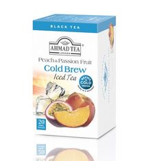 Ahmad Peach and Passion Fruit Cold Brew Iced Tea - 20ct Bags