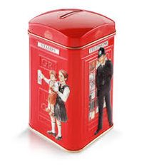 Ahmad English Breakfast Phone Booth Tin - 40ct Bags