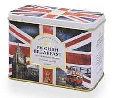 Ahmad English Breakfast Union Jack Tin - 20ct Bags