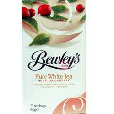 Bewley's White Tea with Cranberry - 25ct Bags