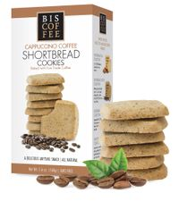 Biscoffee Cappuccino Coffee Shortbread Cookies - 160g - 5 In Stock