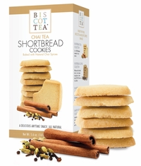 Biscottea Chai Tea Shortbread Cookies - 160g - BB November 2020 - 3 In STock