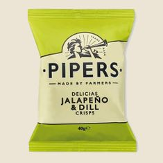 Pipers Jalapeno & Dill Crisps - 40g