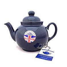 Brown Betty in Cobalt Blue - 4 cup - 1 in stock