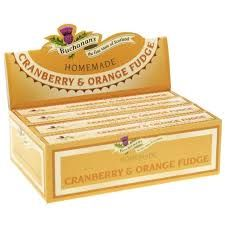 Buchanan's Cranberry & Orange Fudge - 115g - Not Available 2019