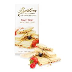 Butlers Mixed Berry White Chocolate Tablet Bar - 100g - 6 In Stock - BB Oct 2020