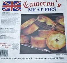 Cameron's Meat Pies - 4pk