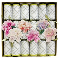 Caspari Chelsea Garden Party Celebration Crackers 6pk