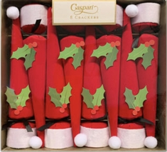 Caspari Santa Hats with Holly - 8 pack - Sold Out 2020