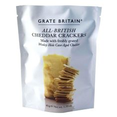 Grate Britain All British Cheddar Cheese Crackers Pouch - 45g
