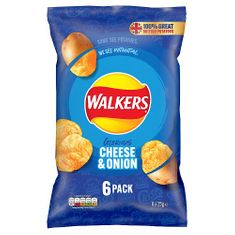 Walkers Cheese & Onion 6pk - 150g - Low Stock