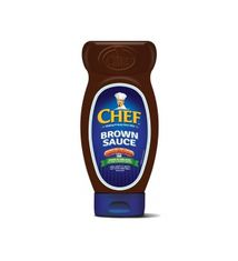 Chef Brown Sauce Squeezy - 485g - 6 In Stock
